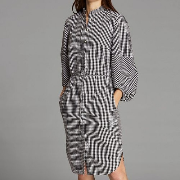 cea60434 LRL Plaid Gingham Midi Shirttail Dress Puff Sleeve. NWT. Lauren Ralph Lauren